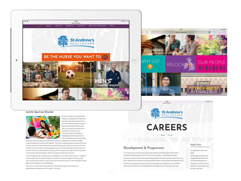 Nursing recruitment microsite